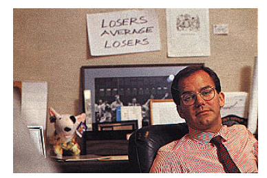 Options trading guru Paul tudor Jones in his office.