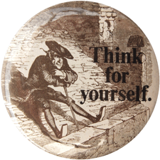 Think for yourself, cabot button
