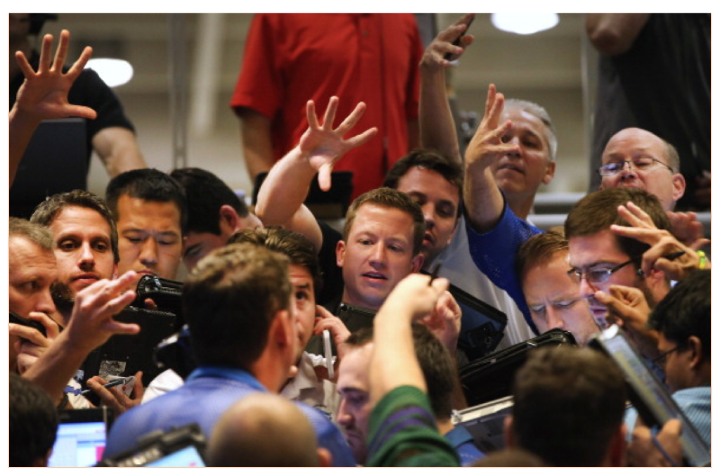 The Chicago Board of Options Floor, where weekly options are sometimes traded.