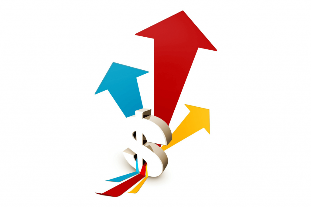 An image with a dollar sign and arrows to represent special dividends