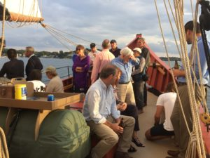 An evening sail is one of the perks of attending the Cabot Wealth Summit.