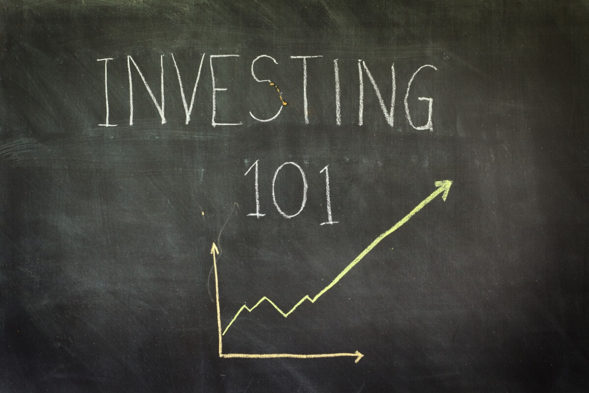 investing 101 written on chalk board