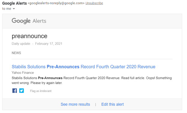 This is why Google Alerts are one of the best free investing resources.