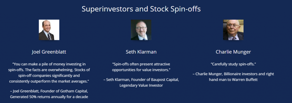 """What certain """"superinvestors"""" have said about stock spin-offs."""
