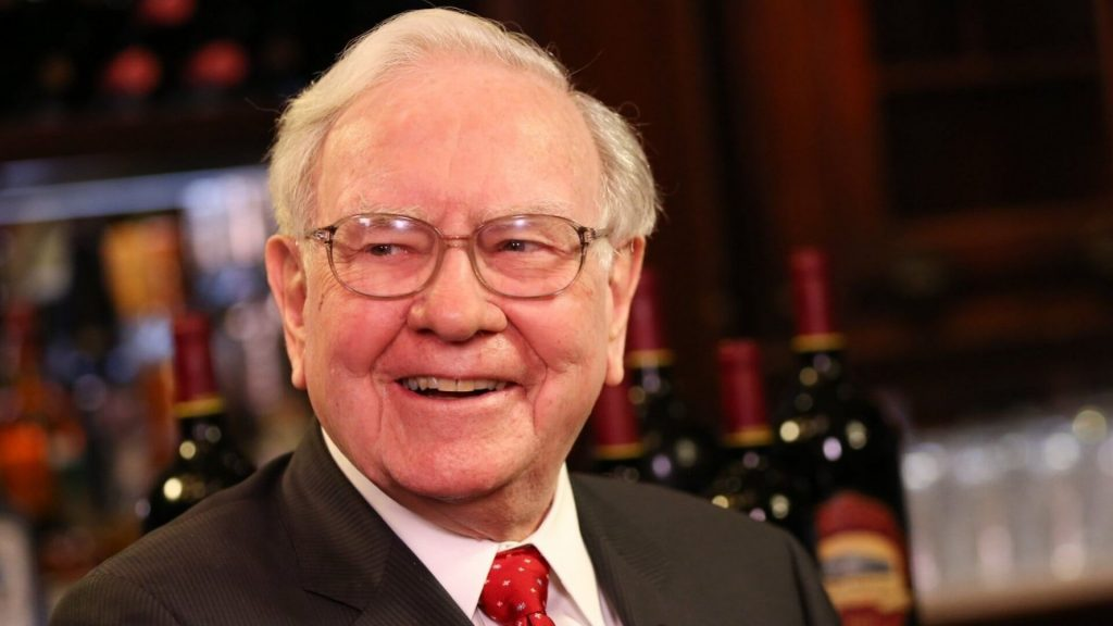 A photo of Warren Buffett thinking about what we think is small-cap stocks