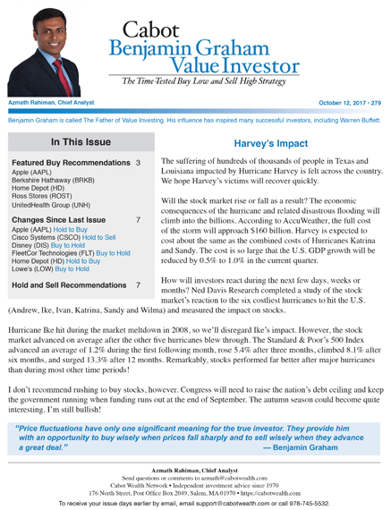 Cabot Benjamin Graham Value Investor