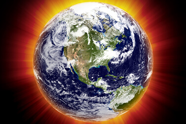 earth global warming concept