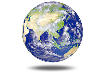 floating globe earth