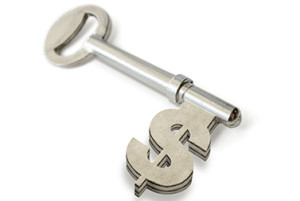 key to success dollar sign
